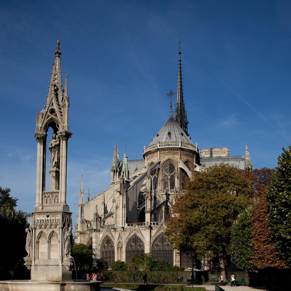 Paris, Notre Dame Cathedral Chevet