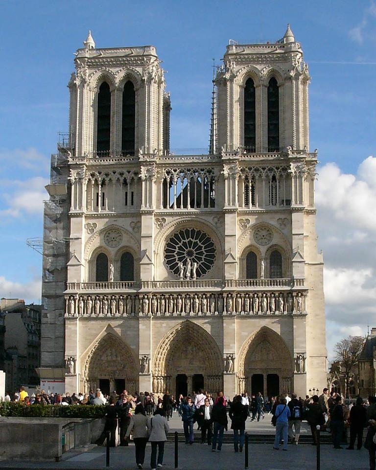 Paris, Notre-Dame Cathedral  West Facade