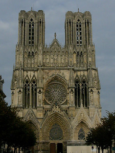 Reims Cathedral of Notre-Dame West Facade
