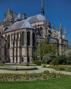 Reims Cathedral of Notre-Dame Chevet and Bishop's Chapel