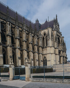 Reims Cathedrall South Flank and Facade