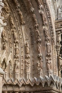 Reims Cathedral of Notre-Dame West Facade Archivolt