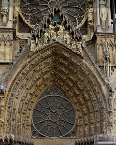 Reims Cathedral of Notre-Dame West Facade Tympanum