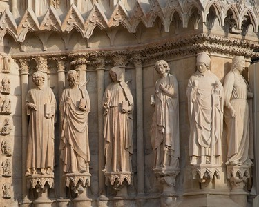 Reims Cathedral of Notre-Dame West Facade Figures