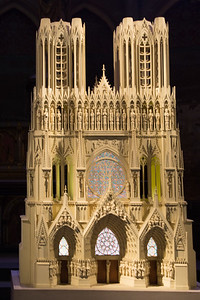 Reims Cathedral West Facade Model