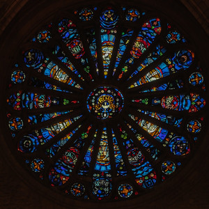 Reims Cathedral of Notre-Dame Rose Window, Christ in Glory