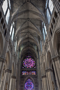 Reims Cathedral of Notre-Dame Nave Vaults and Rose Windows