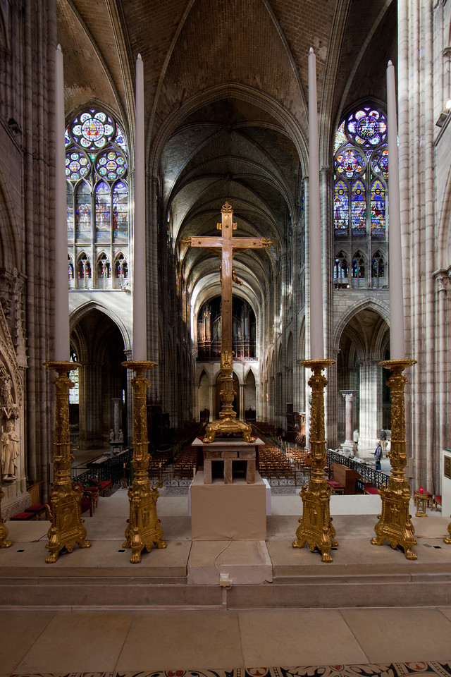 Saint-Denis Cathedral Nave and Crossing from the Choir