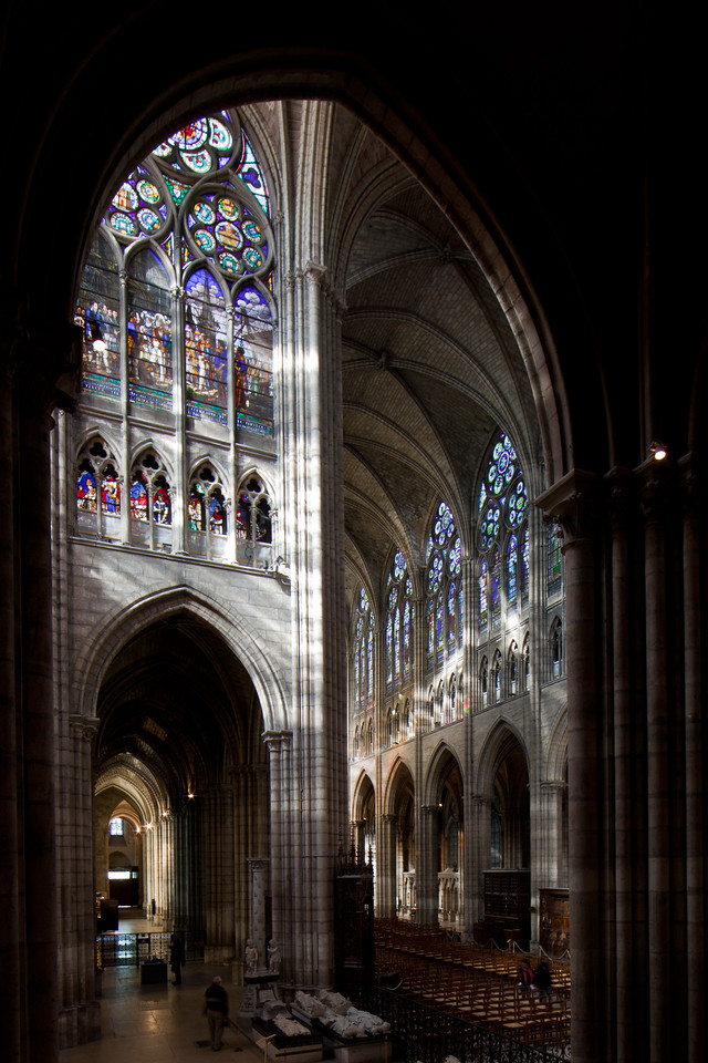 Saint-Denis Cathedral Transept and Nave Elevations