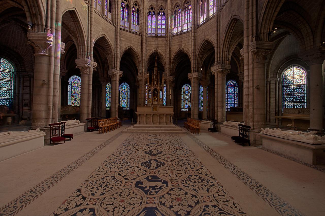 Saint-Denis Cathedral Choir Hemicycle and Ambulatory Windows