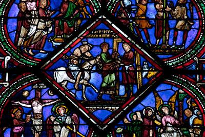 Sens Cathedral of Saint-Etienne  Good Samaritan Brings the Victim to the Inn