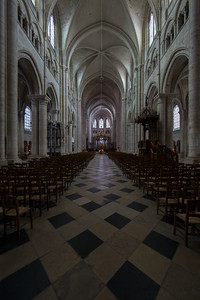 Sens Cathedral of Saint-Etienne Nave and Choir