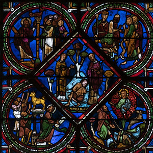 Sens Cathedral, The Good Samaritan Window, The Pilgrim is Abandoned by Priests