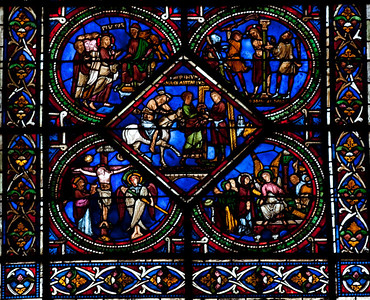 Sens Cathedral of Saint-Etienne, The Good Samaritan Brings the Victim to the Inn