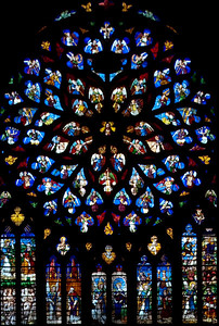 Sens Cathedral of Saint-Etienne North Rose Window