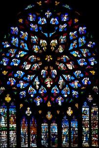 Sens Cathedral of Saint-Etienne North Rose Window
