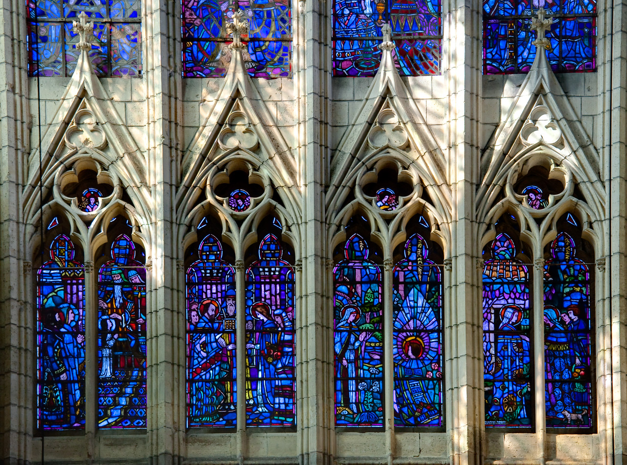 Soissons, Saint-Gervais and Saint-Protais Cathedral North Rose Lancet Windows
