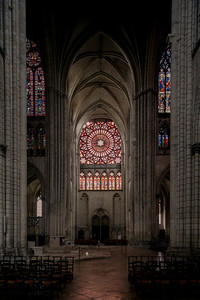 Troyes Cathedral Crossing and North Transept Rose Window