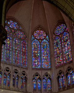 Troyes Saint Peter and Saint Paul Cathedral Choir Triforium and Clerestory Windows