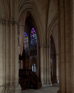 Troyes Saint Peter and Saint Paul Cathedral Pulpit and North Transept Windows
