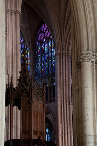 Troyes, Cathedral of Saint-Peter and Saint-Paul Pulpit and Clerestory Window