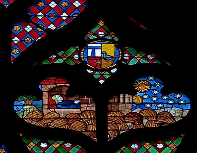 Troyes Saint Peter and Saint Paul Cathedral Story of Joseph Window, Joseph Dreaming