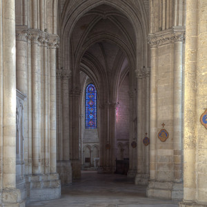 Troyes Saint Peter and Saint Paul Cathedral Ambulatory and Lancet Window