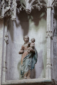 Troyes Sainte-Madeleine Church Saint Martha Virgin and Child