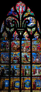 Troyes - Church of the Madeleine - The Creation Window