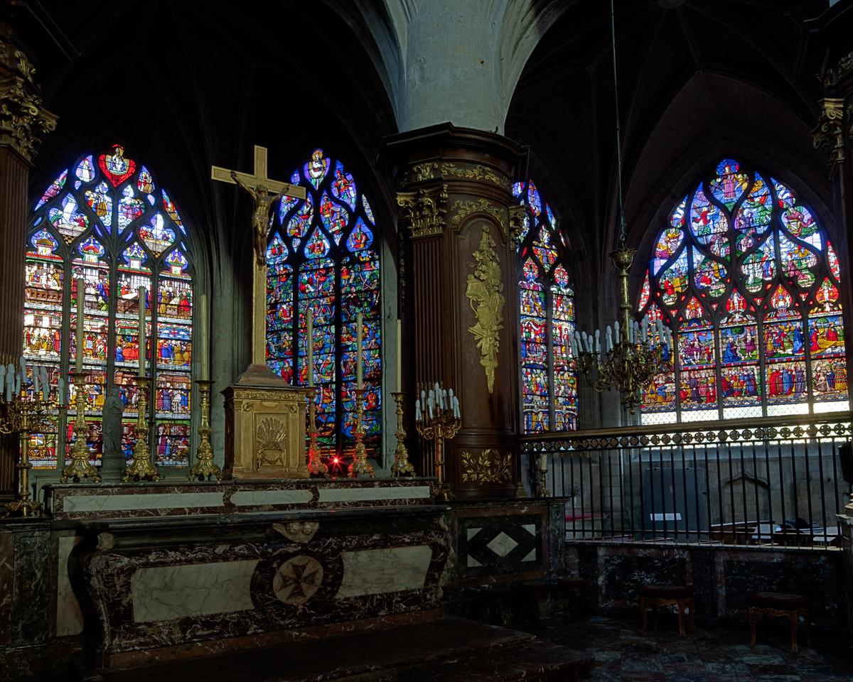 Troyes Sainte-Madeleine Church Altar and Windows