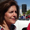 Catherine Cortez Masto At Protest Outside Trump Tower In Las Vegas, NV