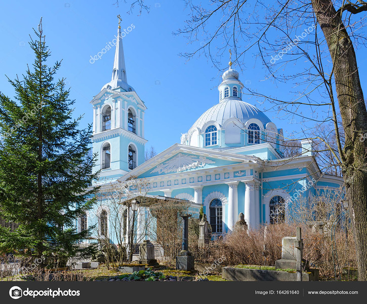 Church of Smolensk Icon of Mother of God, Smolensk Cemetery, St. Petersburg, Russia