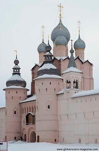 Walls and Gate Church of the Resurrection, Kremlin, Rostov Veliky, Russia