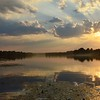 Sunset Kiev River Dnieper Nature Landscape