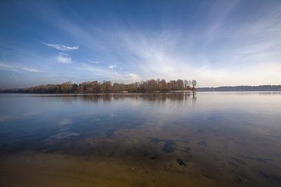 Reflection Island Sky Vyshgorod Dnieper