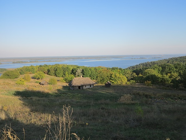 Forest Dnieper House Ukraine Landscape