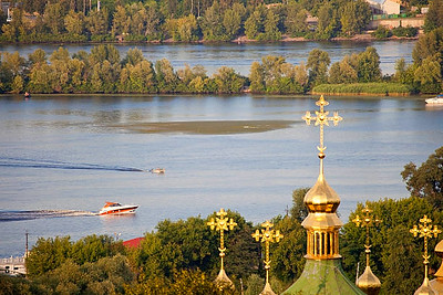 Landscape of the Dnieper River.