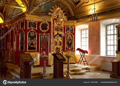 Interior of the baroque church of Saint Clement in Moscow, Russia. This large ecclesiastical complex was built in the 18th century