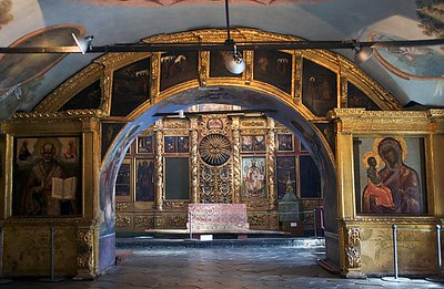 RUSSIA - MARCH 10: Interior of the Church of Prince Dimitri On Blood, inside the Kremlin (18th century), Uglich, Russia. (Photo by DeAgostini/Getty Images)