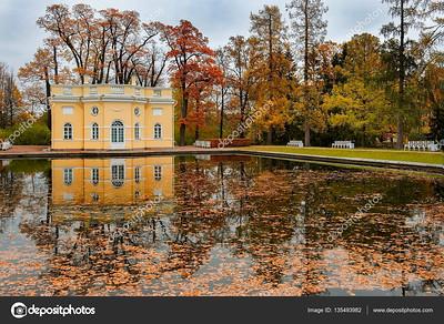 Bathhouse Pavilion in Tsarskoye Selo (Pushkin), Saint Petersburg, Russia