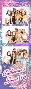 Catherine's Sweet 16  August 13, 2016 - EYE Photo Booth Photo Strips