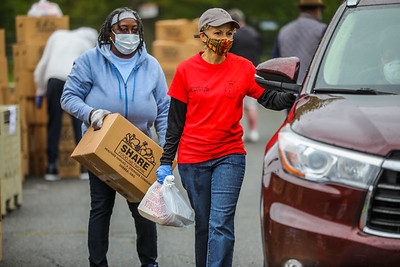 Catholic Charities Hosts Large-Scale Food Distributions