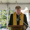 The new Catholic Charities Women's Recovery Program held a ribbon cutting for their facility on Mechanic Street  in Leominster Friday, Oct. 4, 2019. Bishop Robert McManus addresses the crowd during the event. SENTINEL & ENTERPRISE/JOHN LOVE