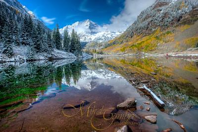 Maroon Lake winter