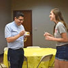 Fr. Javier Reyes, CMF, shares a conversation and a frozen yogurt with a CCM student. (<i>The Mirror</i>)