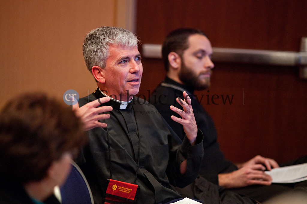 Father Patrick M. Carrion, Pastor of the the Catholic Community of South Baltimore, offers his thoughts during a session on Managing Successful Transitions during the Mid-Atlantic Congress in Baltimore March 8.