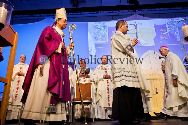 TOM McCARTHY JR. | CR STAFF<br /> Archbishop William E. Lori celebrates Mass at the Mid-Atlantic Congress in Baltimore March 8.