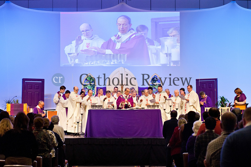 TOM McCARTHY JR. | CR STAFF<br /> Archbishop William E. Lori celebrates Mass at the Mid-Atlantic Congress in Baltimore March 8.