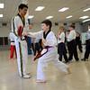 Presentation by Master Kim's Tae Kwon Do at Seton Catholic School in Brighton.