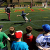 Seton Catholic School students visit St. John Fisher College for their annual football clinic.